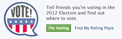 I'm a voter button on Facebook