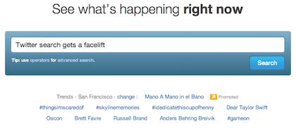 Twitter updates search index