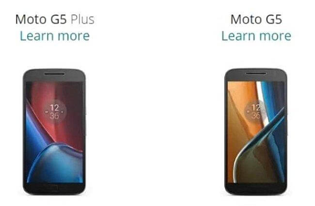 Moto G5 and Moto G5 Plus Leaked Photos Online